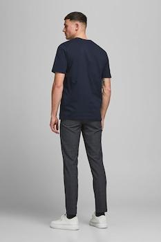 Jack&Jones, Normál fazonú organikuspamut póló, Tengerészkék