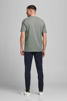 Jack&Jones, Normál fazonú organikuspamut póló, Drapp