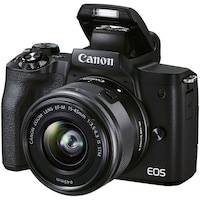 Фотоапарат Mirrorless Canon EOS M50 Mark II, 24.1 MP, 4k, Wi-FI, Черен + Обектив EF-M 15-45 мм