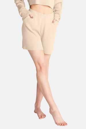 OW Intimates, Bordázott pizsama nadrág zsebekkel, Tevebarna, S