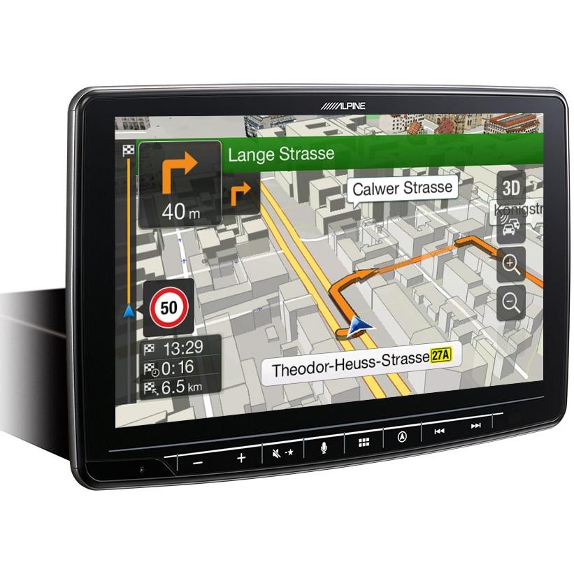 """Fotografie Sistem auto Alpine, Hallo 9, INE-F904D, cu navigatie integrata si bluetooth, ecran de 9"""", instalare 1 DIN"""