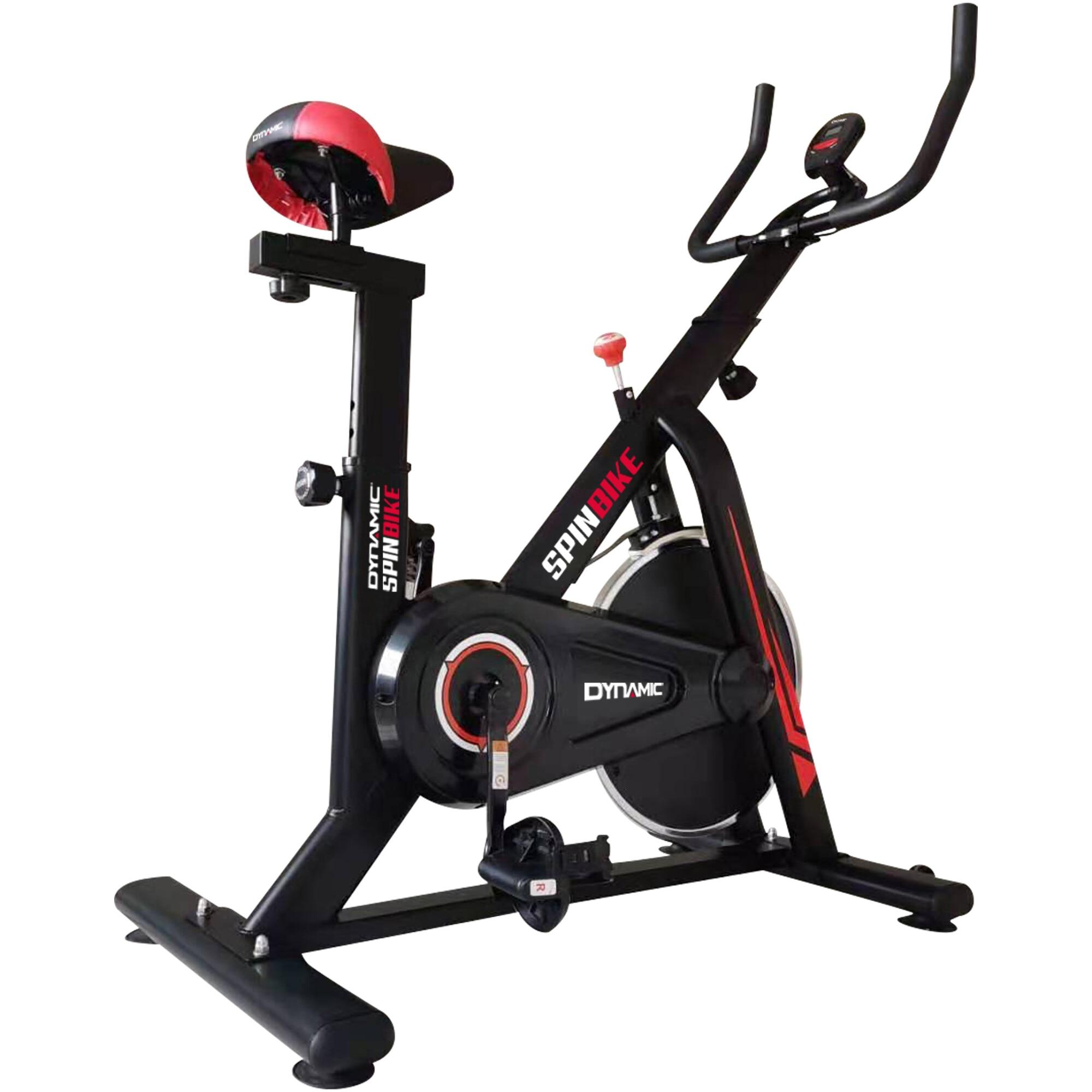 Fotografie Bicicleta spinning Dynamic, volanta 6 kg, culoare negru-rosu