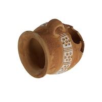 Ghiveci ceramic model anfora, pentru gradina/foisor,handmade, 25hx29Lx21l, impermeabilizat, natur