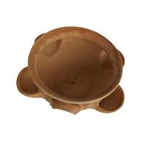 Ghiveci ceramic cu 4 buzunare, pentru gradina/foisor,handmade, 13hx25Ø impermeabilizat, natur