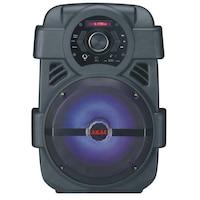 Boxa Portabila, Putere 10W, Bluetooth, AUX 3.5mm, USB, Radio FM, Karaoke, Lumini LED, Display LCD, Difuzor 8 inch, Negru