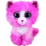 Плюшена играчка TY - Beanie Boos, Розово коте с къдрава козина, 15 см