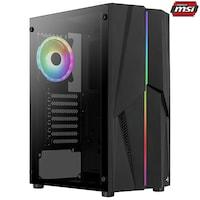 Настолен компютър Gaming Serioux Powered by MSI, AMD Ryzen™ 5 1600AF up to 3.60GHz, 16GB DDR4, 500GB SSD, GeForce® GTX 1050 Ti 4GB GDDR5, No OS
