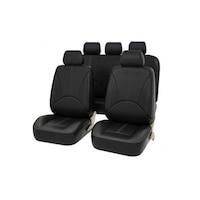 Palmonix univerzális ortopéd üléshuzat készlet, műbőr, fekete szín