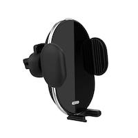 XO WX013 szellőzőnyílásra helyezhető automata autós tartó / vezeték nélküli (Wireless) töltő 10W, fekete