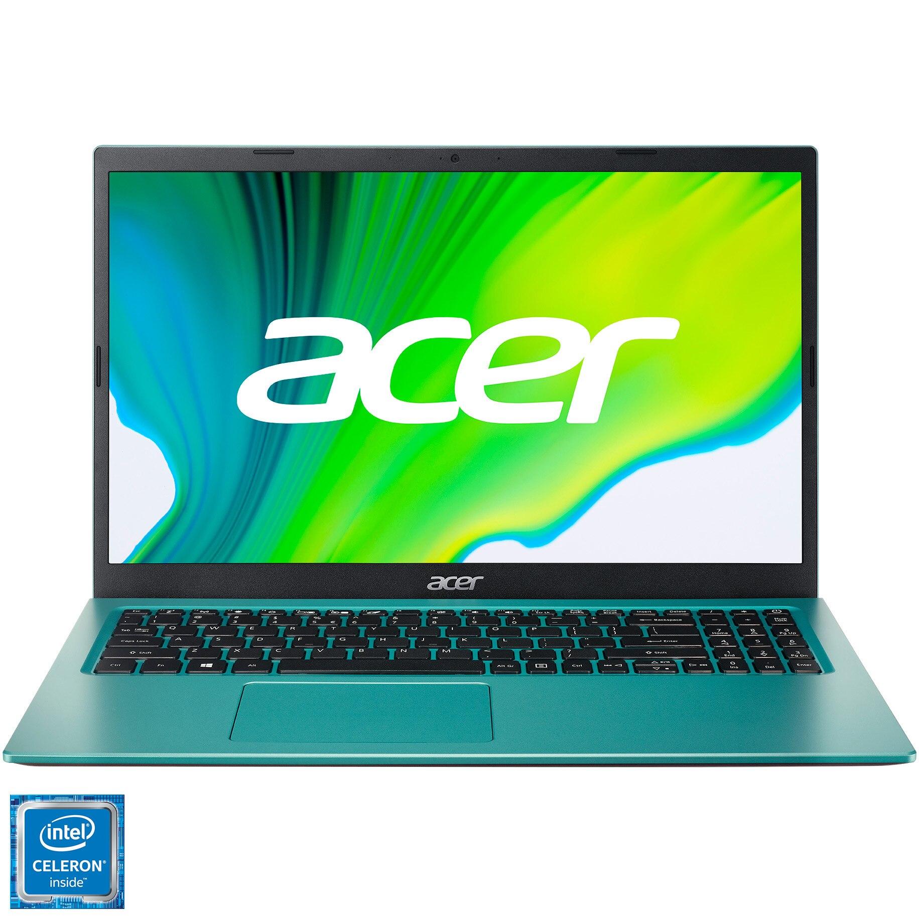 "Fotografie Laptop Acer Aspire 3 A315-35 cu procesor Intel® Celeron® N4500 pana la 2.80 GHz, 15.6"", Full HD, 8GB, 256GB SSD, Intel® UHD Graphics, No OS, Electric Blue"