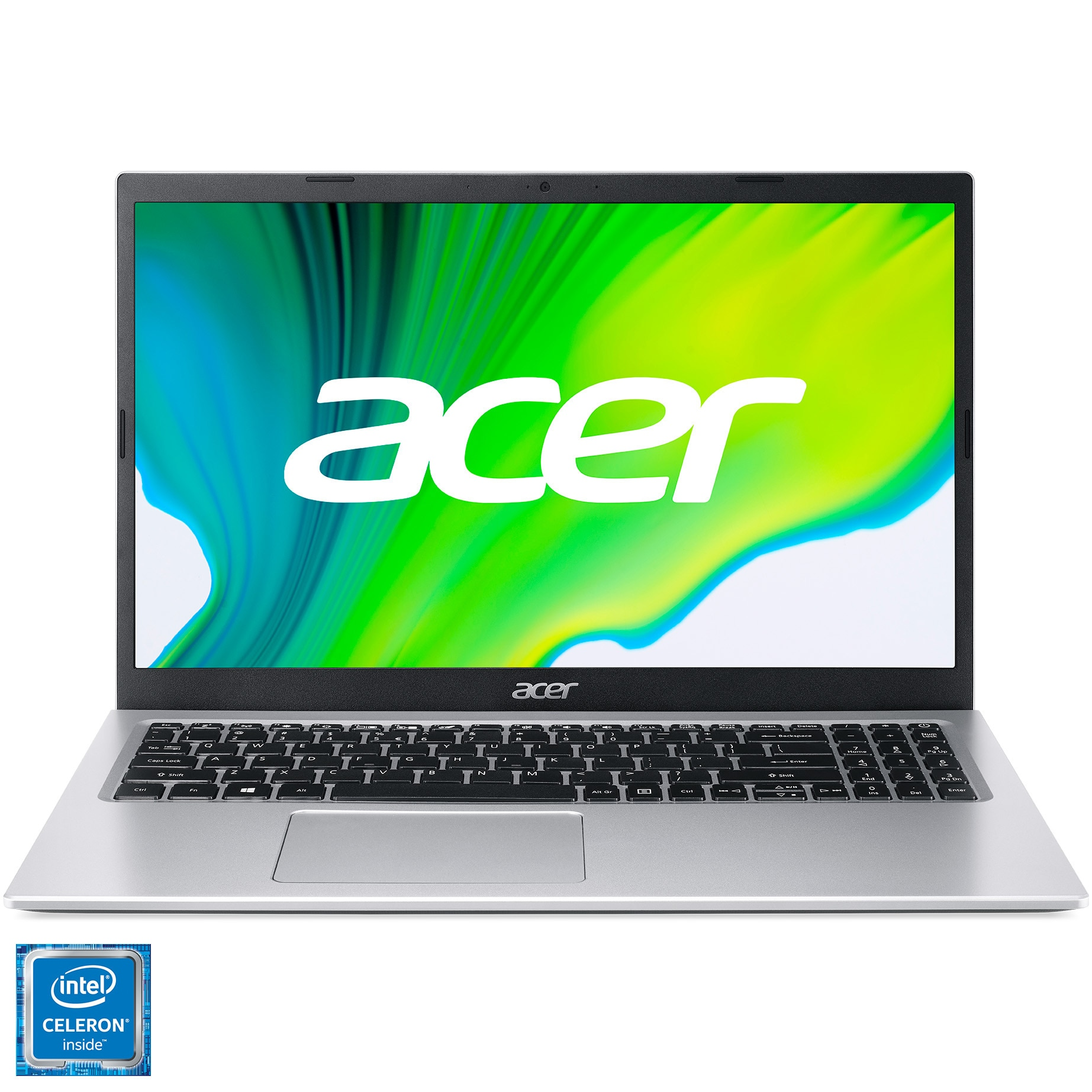 "Fotografie Laptop Acer Aspire 3 A315-35 cu procesor Intel® Celeron® N4500 pana la 2.80 GHz, 15.6"", Full HD, 8GB, 256GB SSD, Intel® UHD Graphics, No OS, Silver"