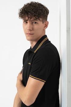 Ben Sherman, Galléros póló kontrasztos tűzésekkel, Fekete/Sárga