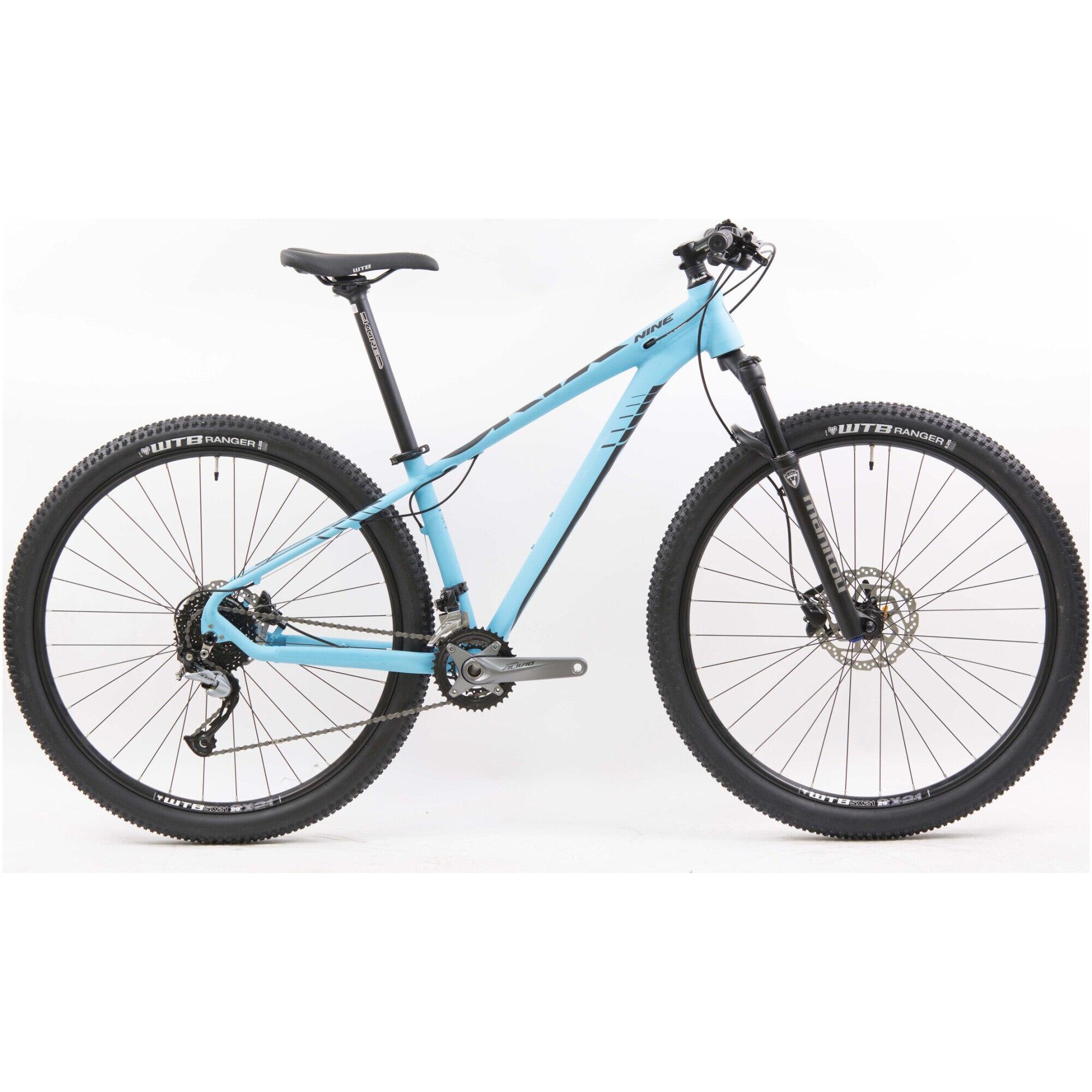 Fotografie Bicicleta MTB 29-er Leader Oryx 3.0 E38 Shimano M3100 3x9, Furca Manitou Markho, S, Turquase/Black Matt