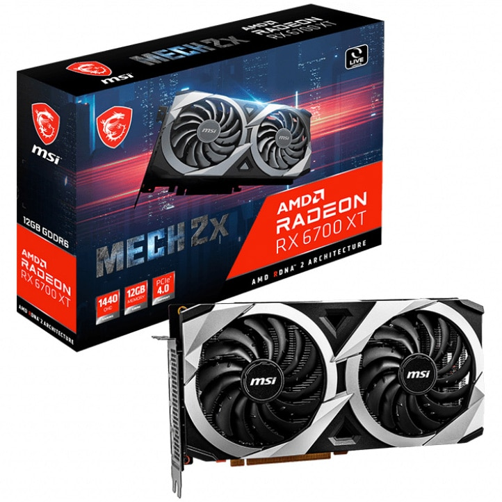 Fotografie Placa video MSI Radeon™ RX 6700 XT MECH 2X, 12GB GDDR6, 192-bit