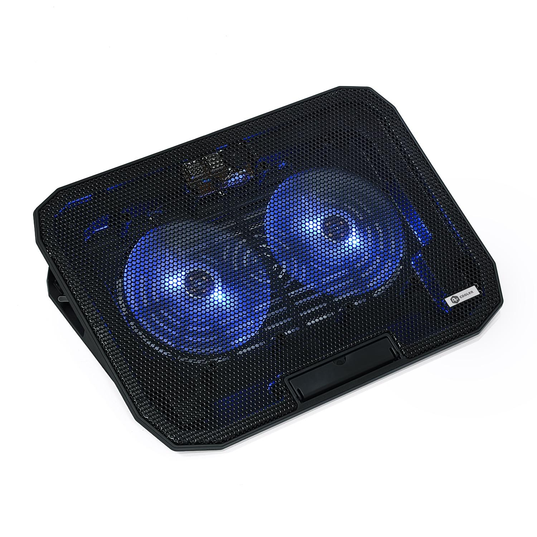 """Fotografie Cooler laptop A+ CIC2B, 15.6"""", USB, 2 ventilatoare, negru"""
