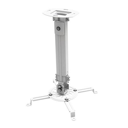 Таванна стойка за видео проектор A+ Bracket, Регулируема, 380-540 мм, Сребриста