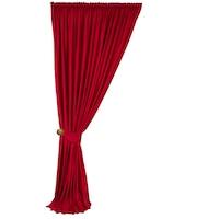 Кадифена завеса OEM, С гросгрейн , Уни, Непрозрачна, Червена, 200x250