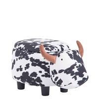 Детска табуретка Carmen крава, бял/черен