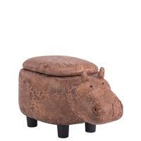 Детска табуретка Carmen хипопотам, кафяв
