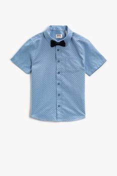 KOTON, Camasa cu buline si papion, Albastru lavanda