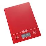 Кухненска везна Adler AD 3138r, 5 кг, LCD екран, ТАРА, Включена батерия, Червен