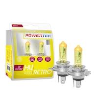 M-Tech Powertec Retro H4 12V DUO sárga