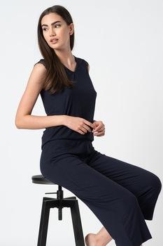 ESPRIT Bodywear, Dagna bordázott pizsama, Sötétkék