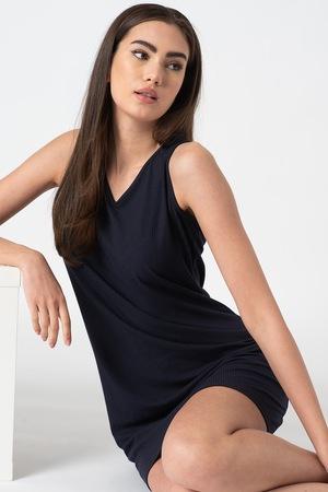 ESPRIT Bodywear, Dagna bordázott pizsama, Sötétkék, 34