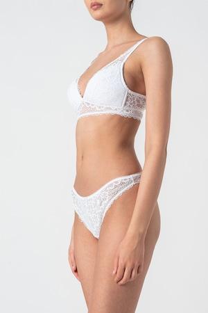 ESPRIT Bodywear, Dekota merevítő nélküli csipkés melltartó, Fehér, 85C