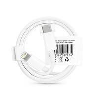 USB Type-C - Lightning adat- és töltőkábel 1 m-es vezetékkel - C973 PD 18W Cable for Lightning - 2A - fehér - ECO csomagolás