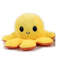 Kifordíthatós hangulatváltós Plüss polip, 20cm , narancssárga/sárga Selling Depot ®