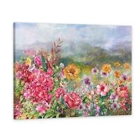 Vászonkép, Fakeret, Dekoráció, Virágmező, 60x90 cm