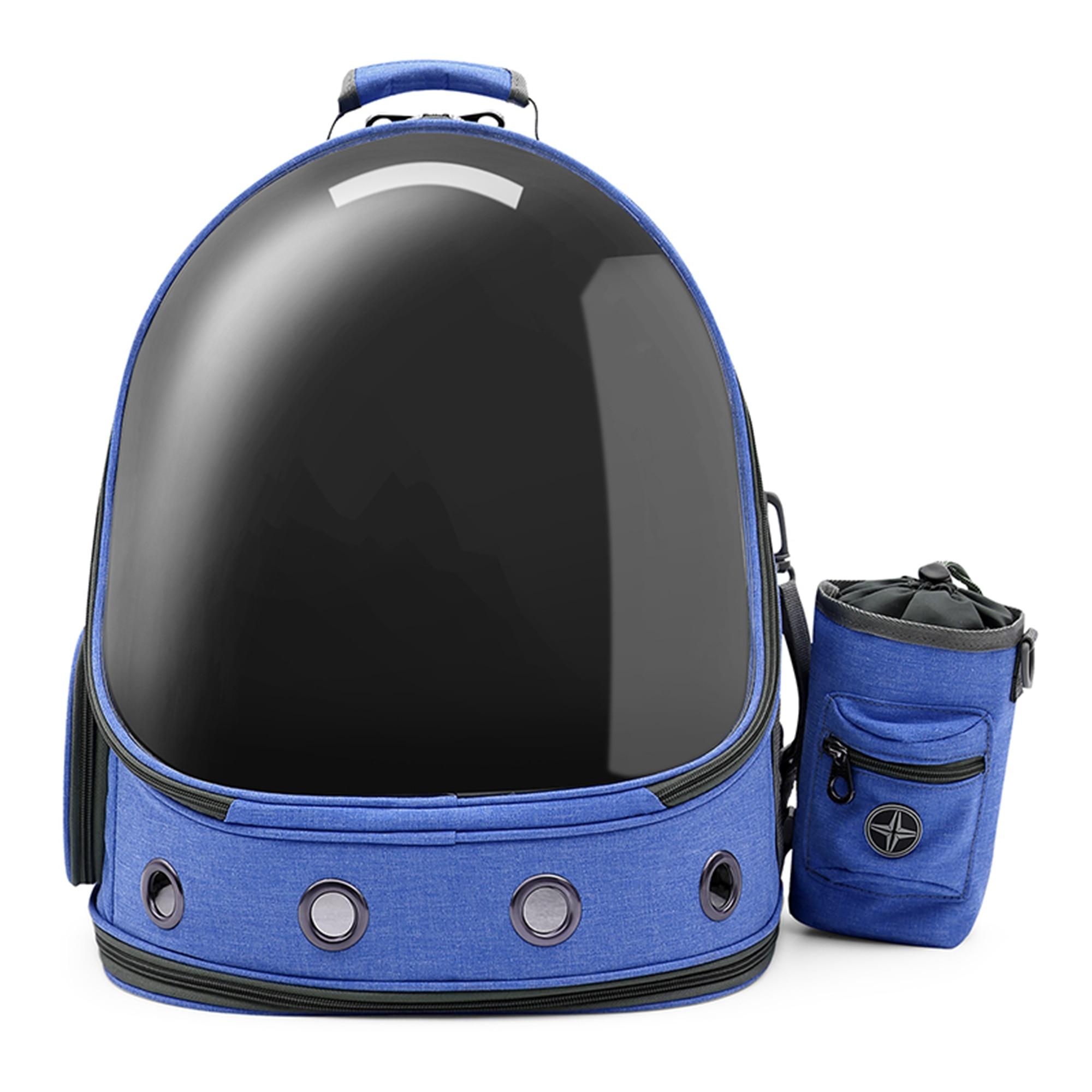 Fotografie Rucsac transport animale de companie de talie mica si medie, TOGO, Albastru, material textil, 37x28x41 cm