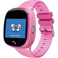 SoVogue okosóra gyerekeknek, micro SIM-foglalat, GSM-hely, handsfree, SOS, 1,22 hüvelykes LCD érintőképernyő, rózsaszín