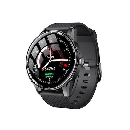 """Ceas Smartwatch ZENKABEAT, Bluetooth 5.0, 1.28"""" FULL OLED, Apelare Bluetooth, Monitorizare Somn, Ritm Cardiac, Tensiune Arteriala, Oximetru, Pedometru, Multiple Moduri de Sport, Waterproof IP67 (Protectie Apa), Negru"""
