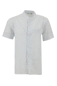 DeFacto, Camasa-tunica cu model geometric, Alb