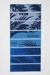 DeFacto, Prosop de plaja cu model tropical, Albastru/Gri