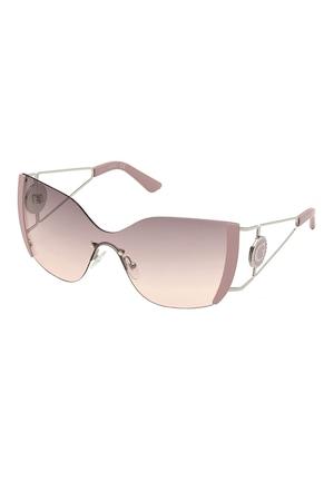 Guess, Shield napszemüveg színátmenetes lencsékkel, Púder rózsaszín, 99-0-120 Standard