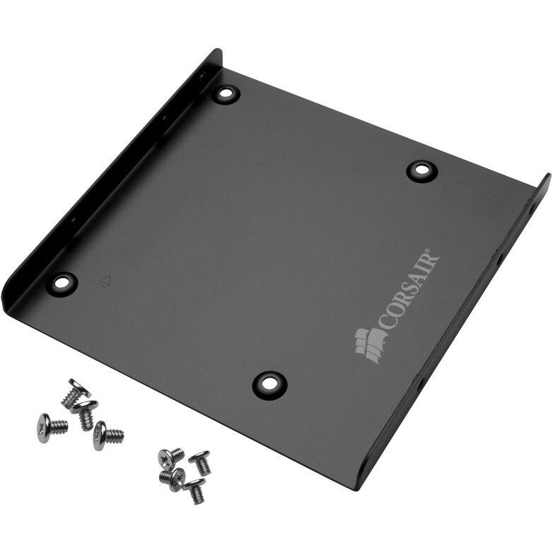 """Fotografie Adaptor SSD/HDD 2.5"""" la 3.5"""" Corsair Bracket CSSD-BRKT1, Aluminiu, Suruburi pentru montare incluse"""