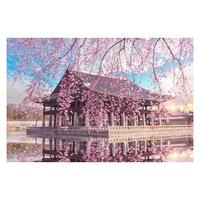 Öntapadó fotótapéta, Virágos ház, 110x170 cm