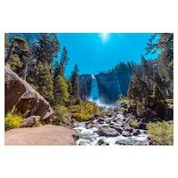 Öntapadó fotótapéta, Vízesés a hegyekben, 110x170 cm