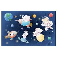 Öntapadó fotótapéta, Állatok a kozmoszban, 110x170 cm