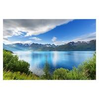 Öntapadó fotótapéta, Tó a hegyek között, 110x170 cm