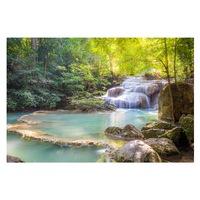 Öntapadó fotótapéta, Vízesés az erdőben, 110x170 cm