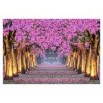 Öntapadó fotótapéta, Sikátor virágzó fákkal, 110x170 cm