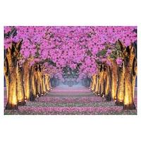 Öntapadó fotótapéta, Sikátor virágzó fákkal, 130x200 cm
