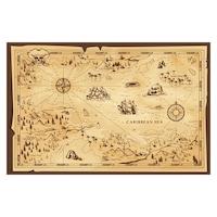 Öntapadó fotótapéta, Kalóz térkép, 110x170 cm