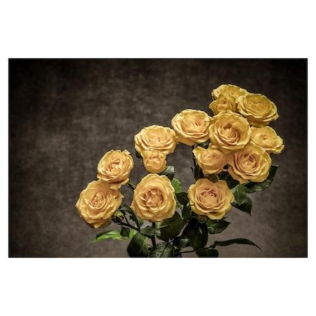 Öntapadó fotótapéta, Sárga rózsák, 110x170 cm