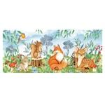 Öntapadó fotótapéta, Állatok az erdőben, 90x200 cm