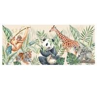 Öntapadó fotótapéta, Állatok a dzsungelben, 90x200 cm